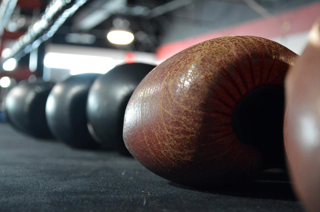 Plusieurs gants de boxe